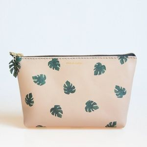 Leather Monstera Leaf Pouch
